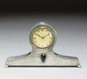 A Tudric Pewter Clock