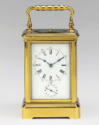 A French brass petite sonnerie