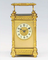 A French gilt-brass carriage t