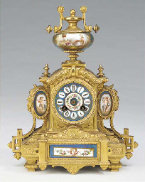 A Napoleon III gilt-spelter an