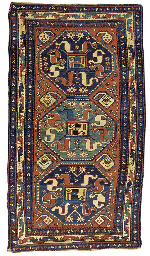 An antique Kazak Chonzorek rug