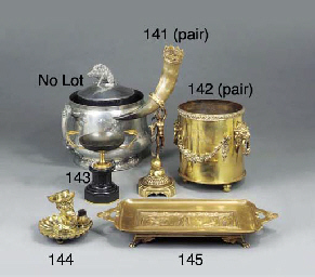 A pair of gilt metal mounted h