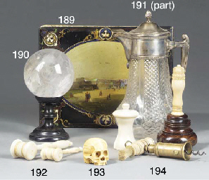 A sculpted ivory memmento mori