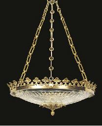 A cut glass and gilt bronze mo
