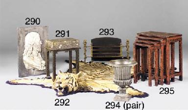 An Indian tiger skin rug