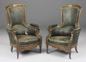 A PAIR OF FRENCH OAK LIBRARY A
