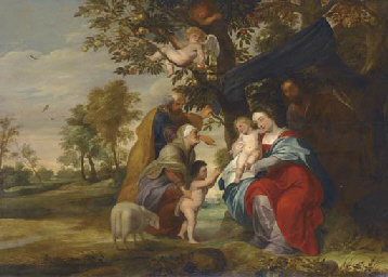 The Holy Family under an Apple