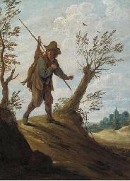 A landscape with a hunter retu
