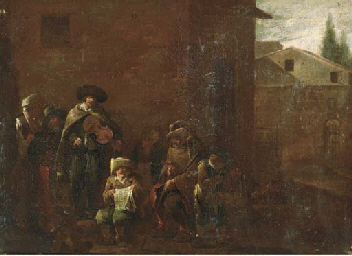 Peasants singing and making mu