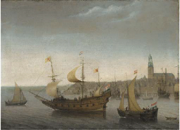 A view of Vlissingen with ship