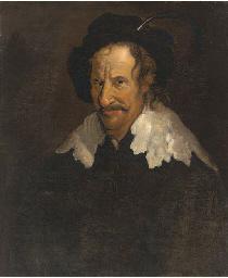 Portrait of a man in a plummed