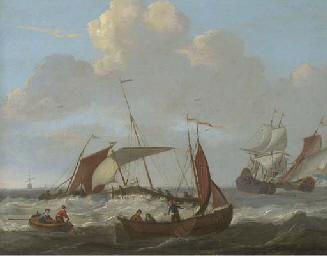 Dutch shipping in choppy seas