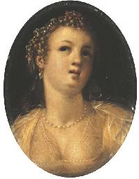 A woman, bust-length