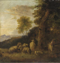 A wooded landscape with a grou