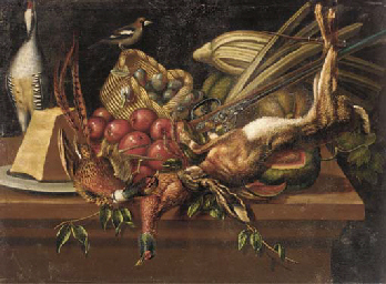 Pheasants, a dead hare and a s