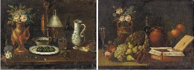 Flowers in a vase, artichokes