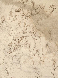 Studies of putti and children
