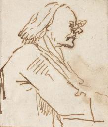 Caricature of a scholar, bust-