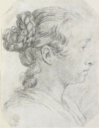 Head of a girl in profile to t