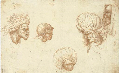 Five head studies, after Ludov