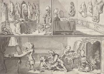 A gentleman's dressing room, a