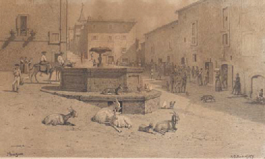 The square at Genazzano, with