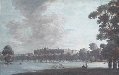 A castle, possibly Windsor, se