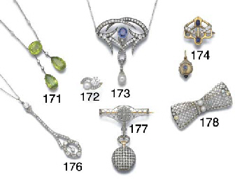 An Art Nouveau sapphire, diamo
