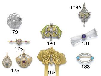 An Art Nouveau diamond, enamel