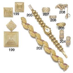 A Cartier gold and diamond hea
