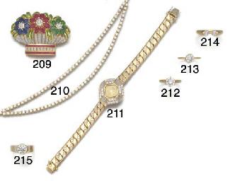 A lady's diamond set Chopard b