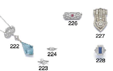 A platinum and diamond two sto