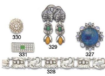 A Georg Jensen panel bracelet,
