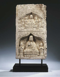 a chinese marble panel