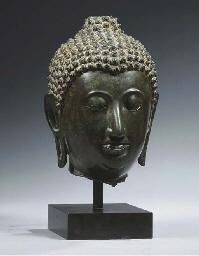 a thai, sukhothai style, bronz