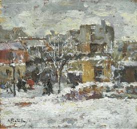 Scorcio di Napoli sotto la nev