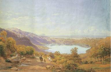 Veduta del Lago di Nemi, 1873