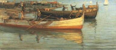 Venezia, pescatori e barche in