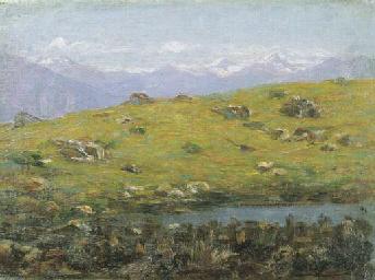 Laghetto alpino (1915 circa)