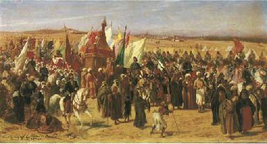 Carovana nei pressi del Cairo,