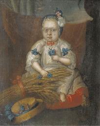 Portrait of a child, sitting f