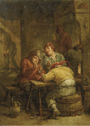 Peasants smoking in a tavern