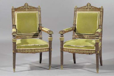 (2) A pair of French ormolu-mo