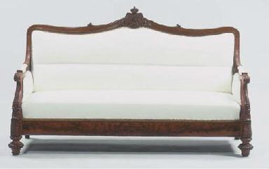A German mahogany canape