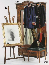 A French rosewood easel
