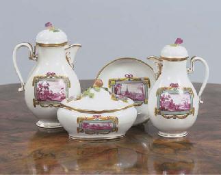 (7) A set of four Vienna porce