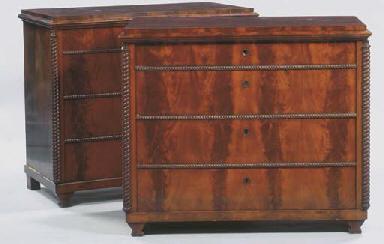 (2) A pair of German mahogany