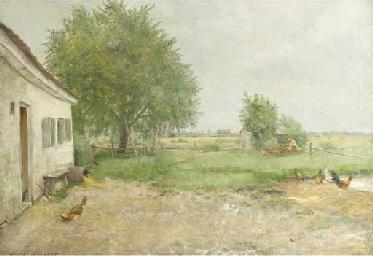 A farmyard in an extensive lan