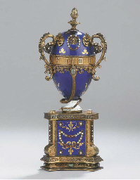 A silver-gilt and enamelled ta