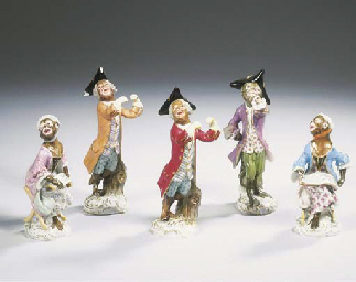 (5)  A series of five Meissen